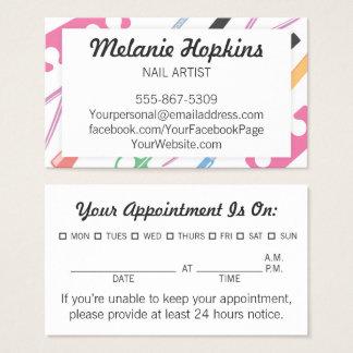 Cartão de visita da nomeação do estilista dos