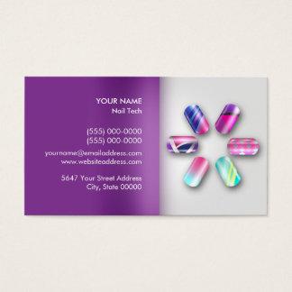 Cartão de visita da nomeação do técnico do prego