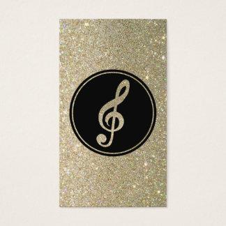 Cartão de visita da nota da música do brilho