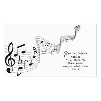 Cartão de visita da nota musical