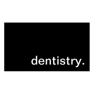 Cartão de visita da odontologia