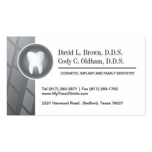 Cartão de visita da odontologia cosmética