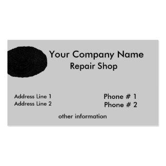 Cartão de visita da oficina de reparações da impre