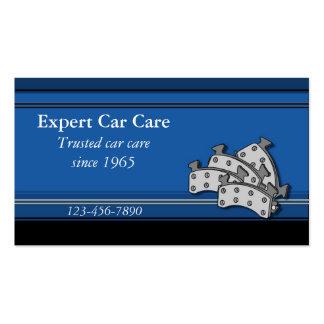 Cartão de visita da oficina de reparações do carro