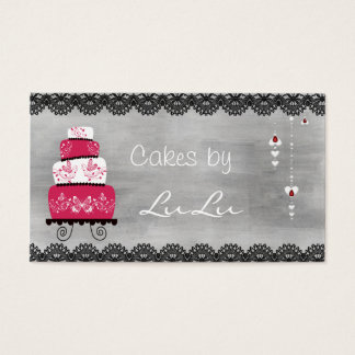 Cartão de visita da padaria do quadro com bolo