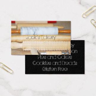 Cartão de visita da padaria dos pinos do rolo