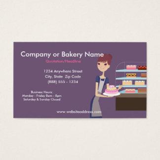 Cartão de visita da padaria/loja de pastelaria 4