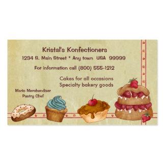 Cartão de visita da padaria ou do bolo