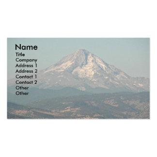 Cartão de visita da paisagem da capa da montagem