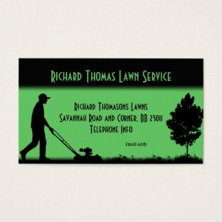 Cartão de visita da paisagem do serviço do gramado