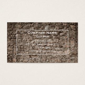 Cartão de visita da parede de pedra