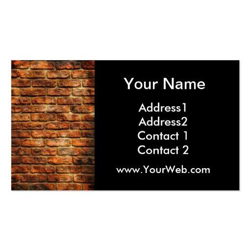 Cartão de visita da parede de tijolo