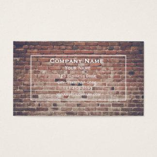 Cartão de visita da parede de tijolo vermelho