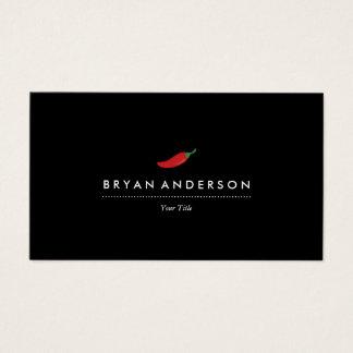 Cartão de visita da pimenta de pimentão vermelho