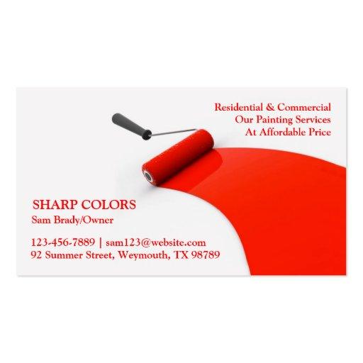 Cartão de visita da pintura