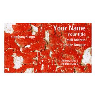 Cartão de visita da pintura da casca