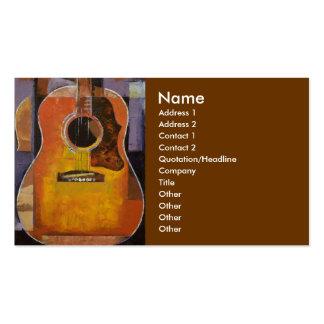 Cartão de visita da pintura da guitarra