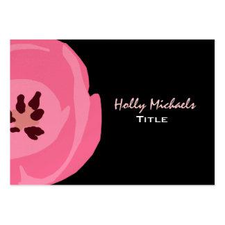 Cartão de visita da pintura da tulipa do rosa