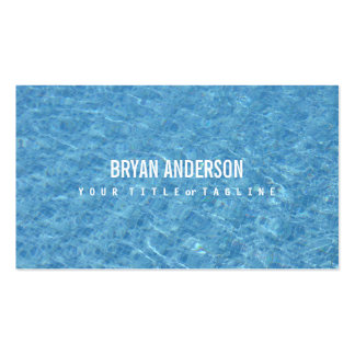Cartão de visita da piscina