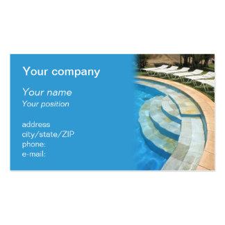 """Cartão de visita da """"piscina"""""""