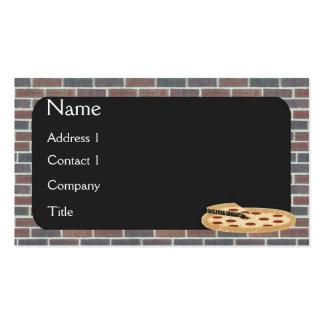 Cartão de visita da pizza