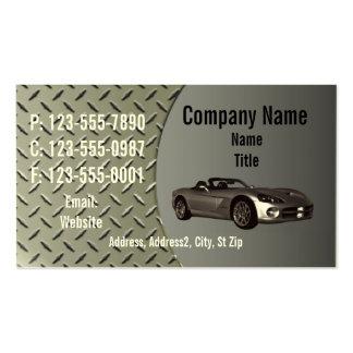Cartão de visita da placa do diamante da víbora