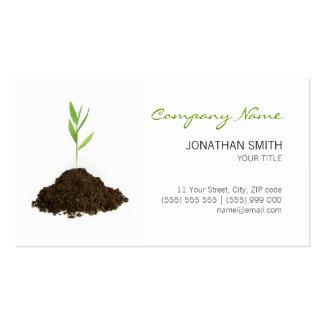 Cartão de visita da planta nova