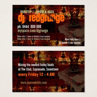Cartão de visita da plataforma giratória do Grunge