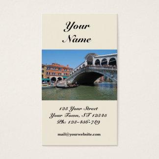 Cartão de visita da ponte de Rialto
