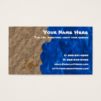 Cartão de visita da praia da colagem