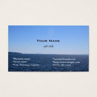 cartão de visita da praia, do mar e do céu