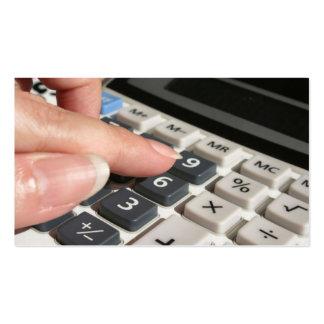 Cartão de visita da prática da contabilidade