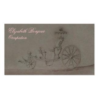 Cartão de visita da princesa Carruagem