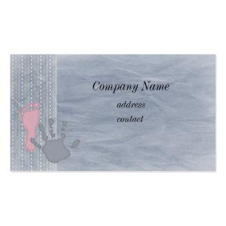 Cartão de visita da profissão da criança
