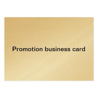 cartão de visita da promoção
