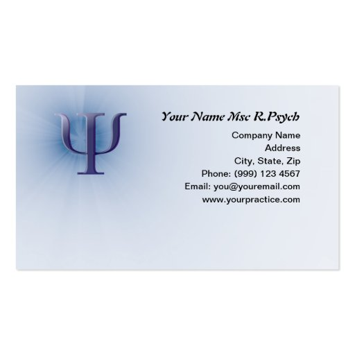 Cartão de visita da psicologia