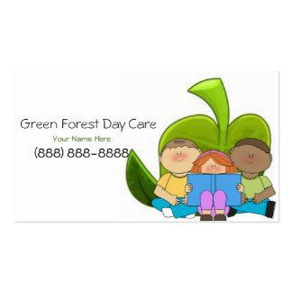 Cartão de visita da puericultura/centro de dia