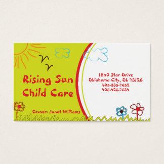 Cartão de visita da puericultura da luz do sol