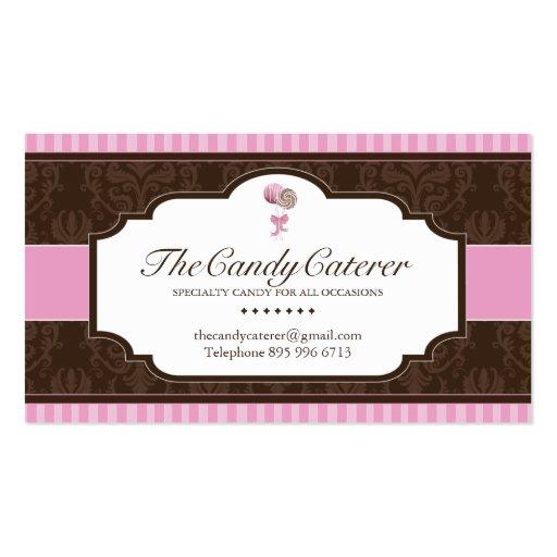 Cartão de visita da restauração dos doces