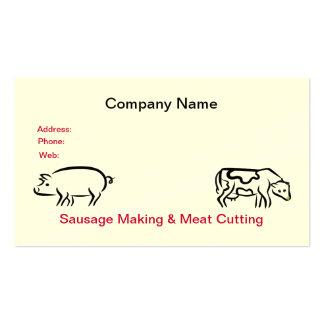 Cartão de visita da salsicha da carne