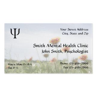 Cartão de visita da saúde mental do psiquiatra