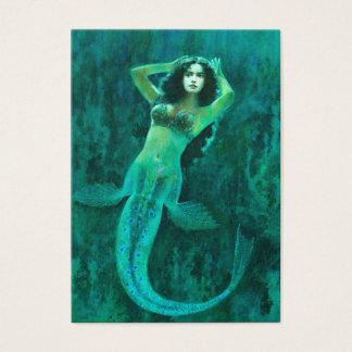 Cartão de visita da sereia ACEO do vintage