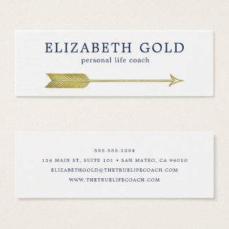 Cartão de visita da seta do ouro