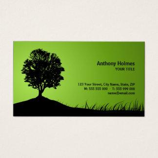 Cartão de visita da silhueta do carvalho