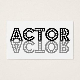 Cartão de visita da sombra do ator