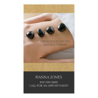 Cartão de visita da terapia da massagem dos termas