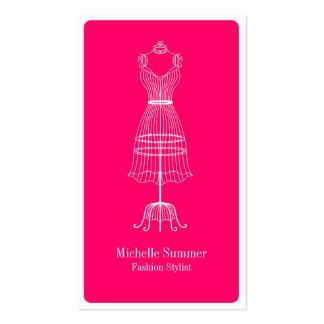 Cartão de visita da tevê do estilista da forma