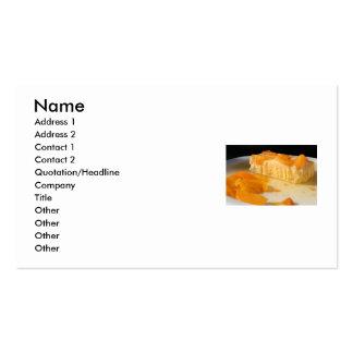 Cartão de visita da torta do pêssego