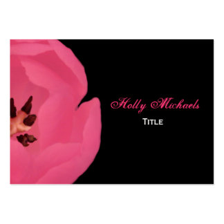 Cartão de visita da tulipa do rosa quente