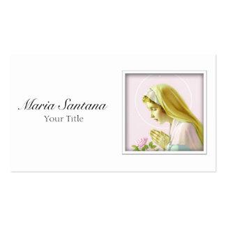 Cartão de visita da Virgem Maria